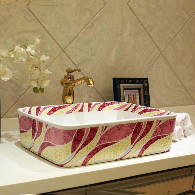 cuarto de bao de cermica sobre encimera lavabo rectangular lavabo europa lavabo del arte lavabo bao