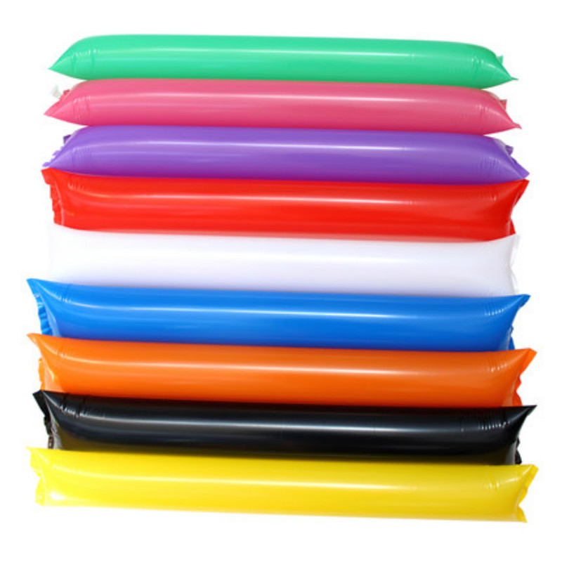 100pcs/lot Mix Color Inflatable Clapper,cheerstick, Inflatable Toy, Balloon Stick Clapper Cheering Stick Noise Maker