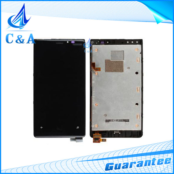 10 pcs tested DHL/EMS post replacement repair part for Nokia Lumia 920 n920 lcd display with touch screen+frame assembly