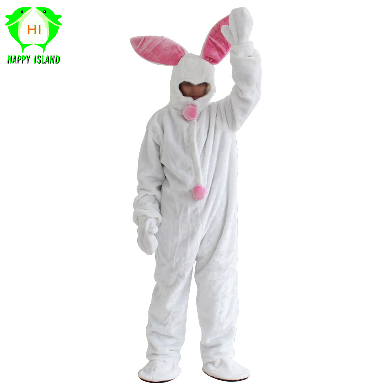 2019 New Easter Adult Rabbit Mascot Costume Unisex Animal Cosplay Costumes Carnival Party Suit Performance Clothing For Holiday