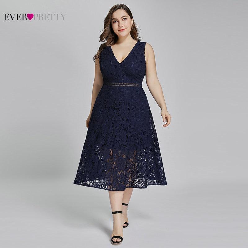 Lace Cocktail Dresses Ever Pretty AS05919 Elegant V Neck