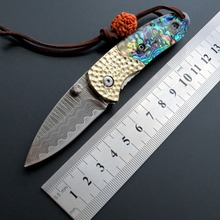 New arrived EF29 Folding Blade Knife Colorful Handle Damascus Steel Tactical Survival Knife Outdoor Hand Tool EDC Fruit Knives все цены