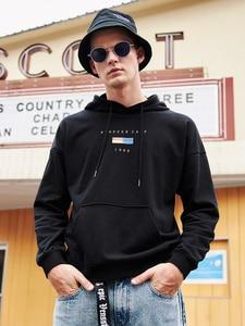 Image 3 - 파이어 니어 캠프 2020 새로운 봄 후드 스웨터 망 브랜드 의류 패션 인쇄 후드 스웨터 남성 블랙 화이트 AWY901024