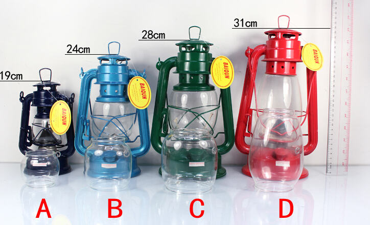 2016 High Quality Iron Vintage Kerosene Lamp Lantern Camping Camping Portable Lamp Masthead Light Well-Known Brand Retro Oil Lamp