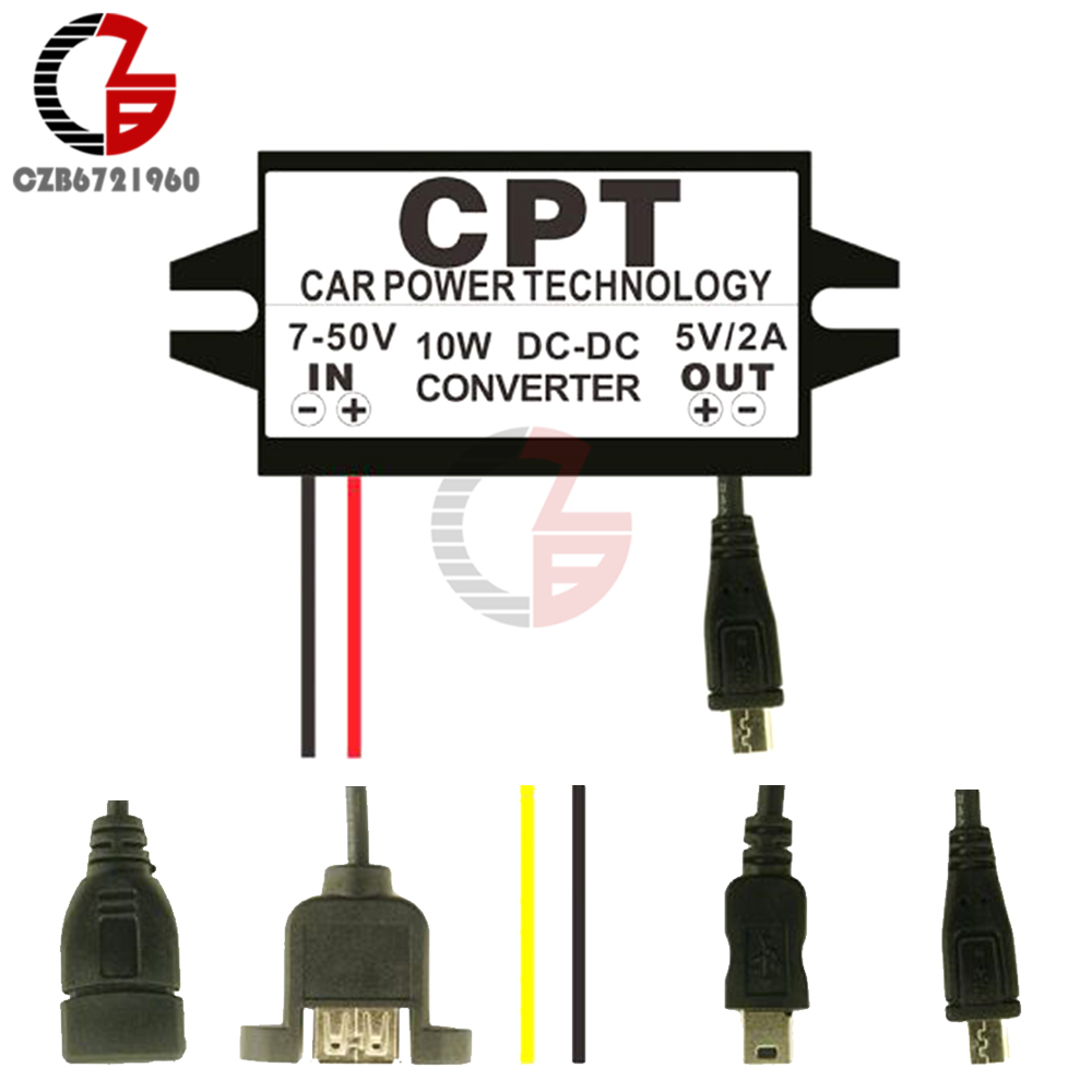DC-DC Converter Buck 12V to 5V Micro USB Regulator Car Power Adapter 15W MA1211
