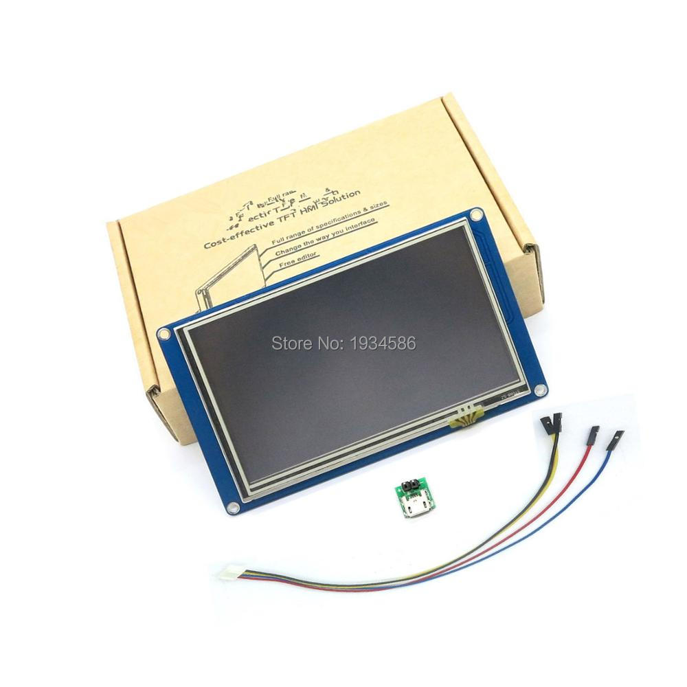 Nextion 5 0 5 Inch Serial USART HMI TFT LCD Display Module 800 480 Intelligent Touch