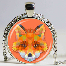 colorful animal jewelry fox pendant neckalce diy jewelry for men