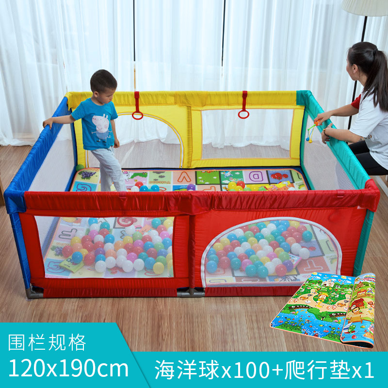 Baby Play Fence Portable Baby Playpen Crib  Baby Swing Bed Fence Barrier Baby Fence  Activity Safety Protection Fence 0-3Y