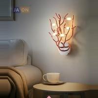 LED Postmodern Iron Aluminum Acryl Gold Chrome Branches LED Lamp LED Light Wall lamp Wall Light Wall Sconce For Foyer Bedroom