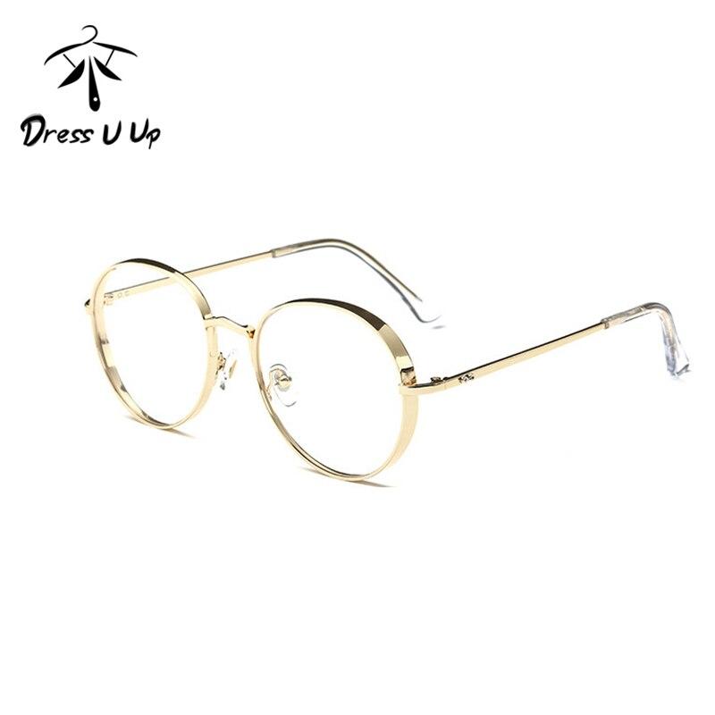 49dc3ce11be29 DRESSUUP Frame Da Liga de Óculos Redondos Do Vintage Para Mulheres Dos  Homens Unisex Mais Novo Luxo Limpar Óculos de Armação Oculos de sol  Feminino Gaf