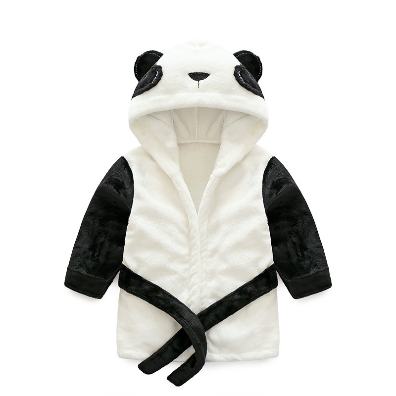 Children's Bathrobes Lovely Panda Bathrobe Kids Baby Boy&Girl Bath Robes Cotton Warm Pajamas Animal Kids Bath Robes