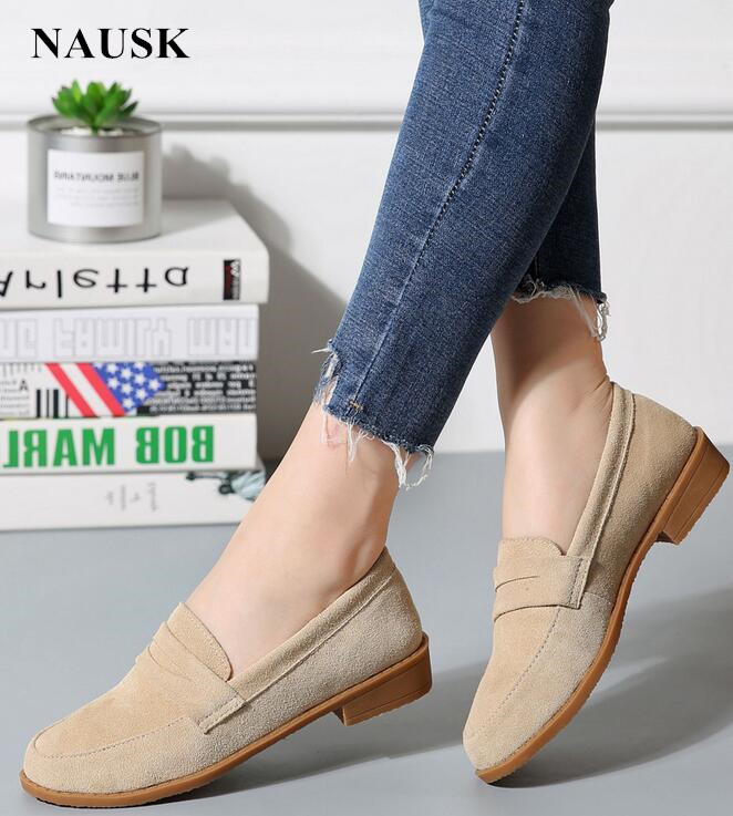 Women Ballet Flats Shoes   Suede     Leather   Slip On Ladies Cute Casual Shoes Olorful Female Classic Loafers Footwear Spring