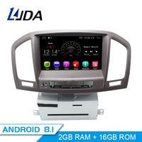 LJDA Android 8.1 Car DVD Player For Opel Vauxhall Insignia 2009 2010 2011 2012 GPS Navi 2 Din Car Radio Multimedia WIFI Stereo