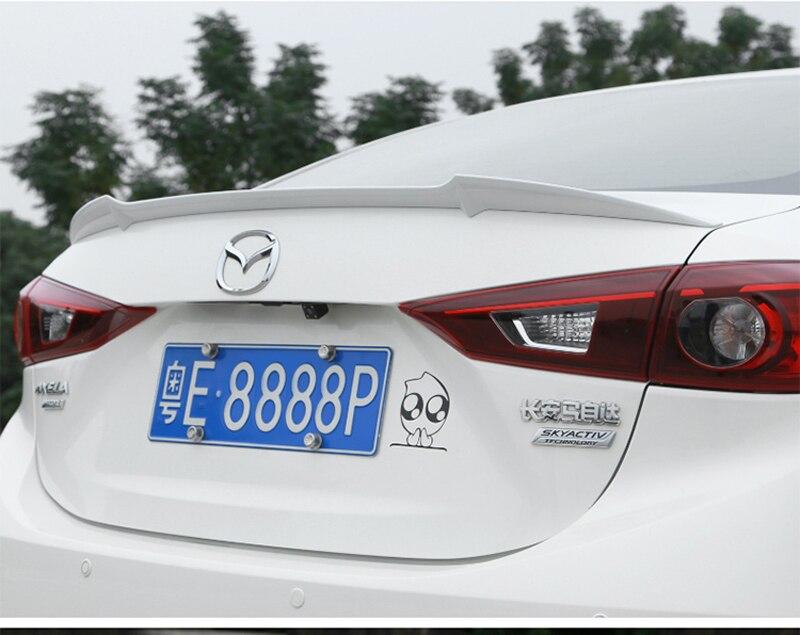 Voor Mazda 3 Axela 2014 2015 2016 2017 Auto Tail Wing Decoratie ABS Plastic Verf Schilderen Kleur Kofferbak Spoiler m4 stijl - 6
