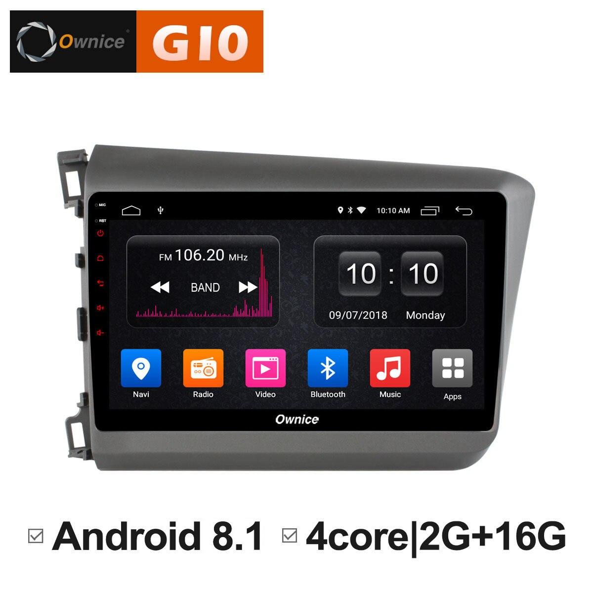 Android 8.1 HeadUnit Car 2 din Radio Video Multimedia player GPS Navigation For Honda Civic 2011 2012 2013 2014 2015 4G DAB+ DVD jdaston android 6 0 2 din car radio for ford fiesta 2008 2009 2010 2011 2012 2013 2014 2015 car multimedia gps video dvd player