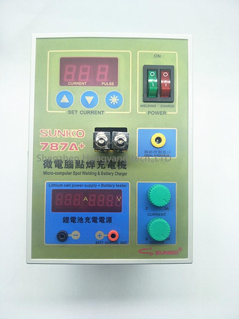 220 v Nouveau LED Batterie soudeuse Sunkko 787A + Spot Machine de soudage avec LED lumière + Nickel Plaqué bande + Batterie Pince