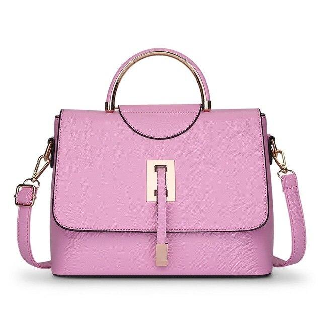 b73c1204aee New 2016 Retro Vintage Women s Leather Handbag Tote Trendy Shoulder Bags  Messenger bag fashion design hot