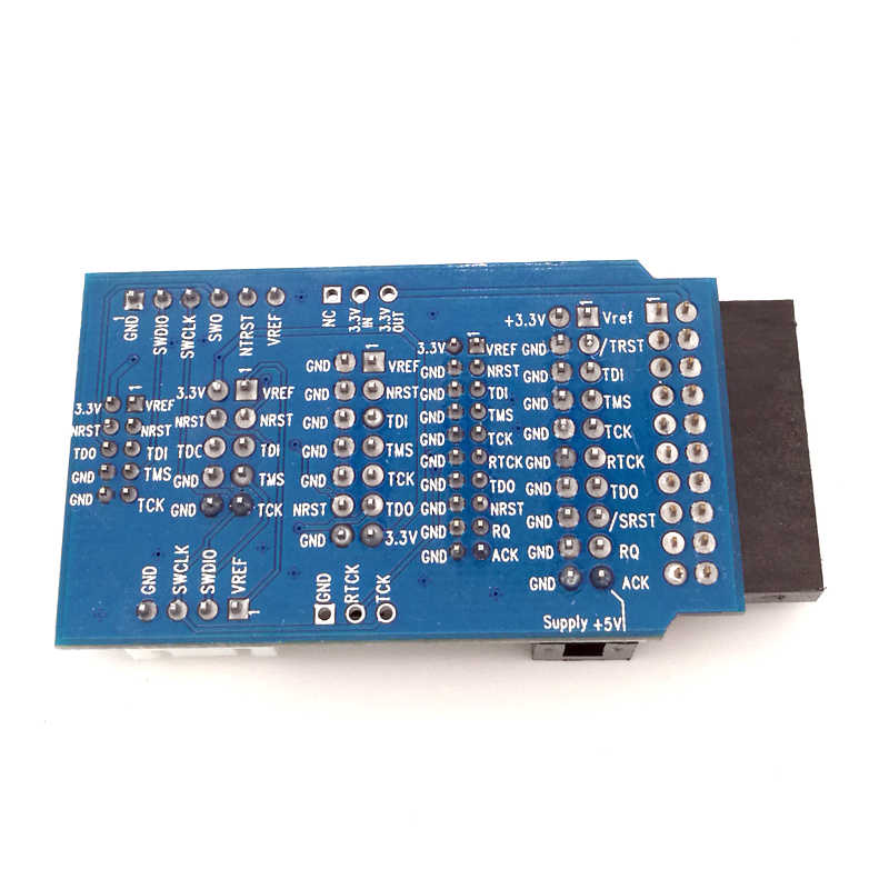 For JLINK V8 V9 Adapter Plate JTAG to SWD Multi-function for ULINK2 STLINK  V2 Multi-function Switching Board 2 54 Flat Cable
