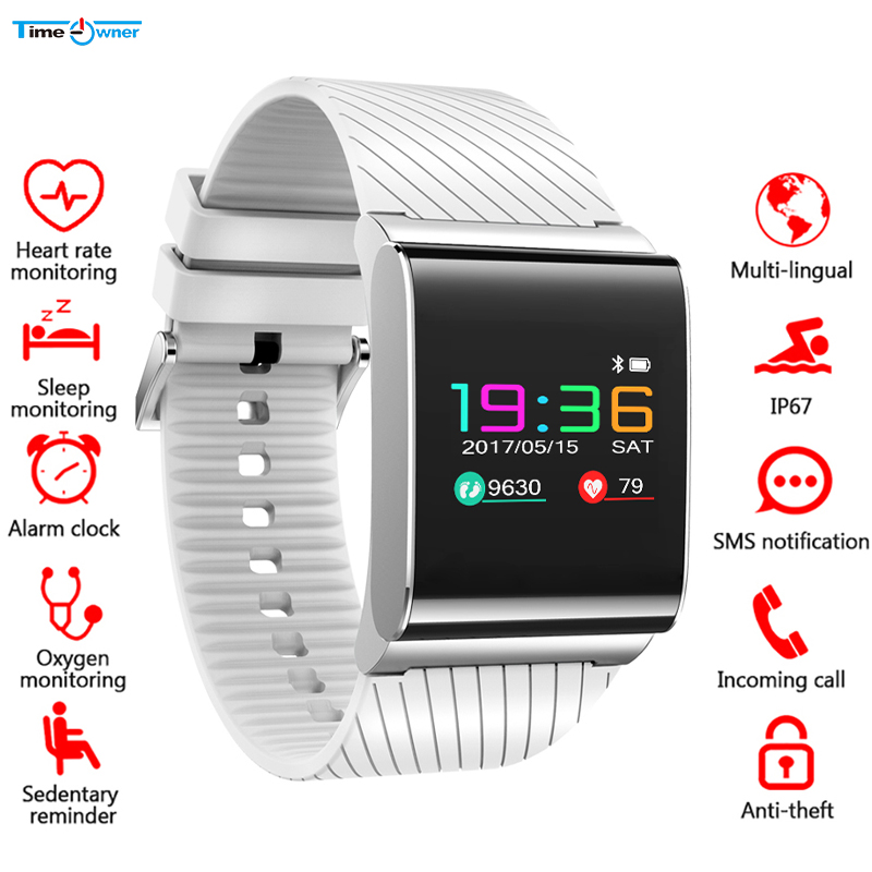 Time Owner X9 Pro Smart Bracelet Colorful OLED Blood Pressure Heart Rate Monitor Fitness Tracker Smart