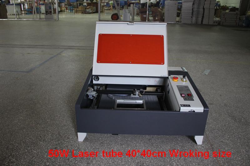 HIGH speed 50W LASER ENGRAVING CUTTING MACHINE ENGRAVER CUTTER 400X400MM
