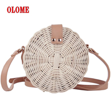 Rattan Hand-woven Fashionable Casual Single Shoulder Bag Outdoor Natural Fashion Retro Woven For Women Brand New