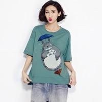 Cotton Short Sleeve Batwing T Shirt