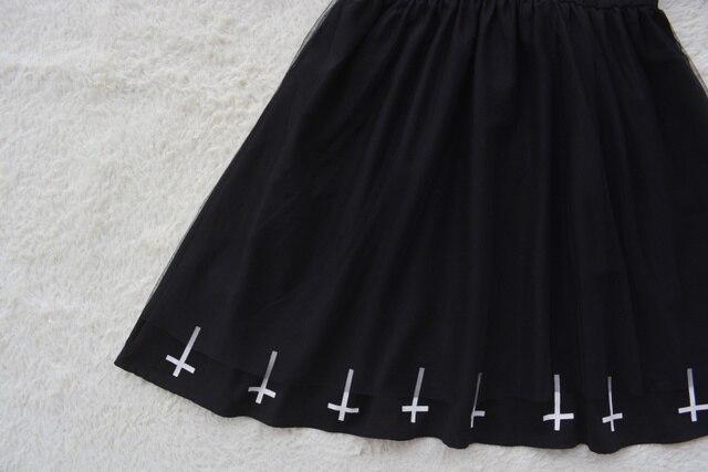 Harajuku Street Fashion Cross Cosplay Female Dress Japanese Soft Sister Gothic Style Star Tulle Dress Lolita Cute Girl Dresses 2