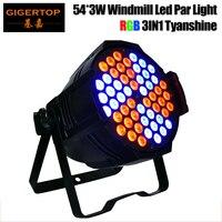 Freeshipping Gigertop 150W 54 X 3W RGB 3IN1 Windmill Aluminum Led Par Light Individual Led Lamp Board Control 3/6/10CH TP P54C 54 x 3w led par lightpar light -