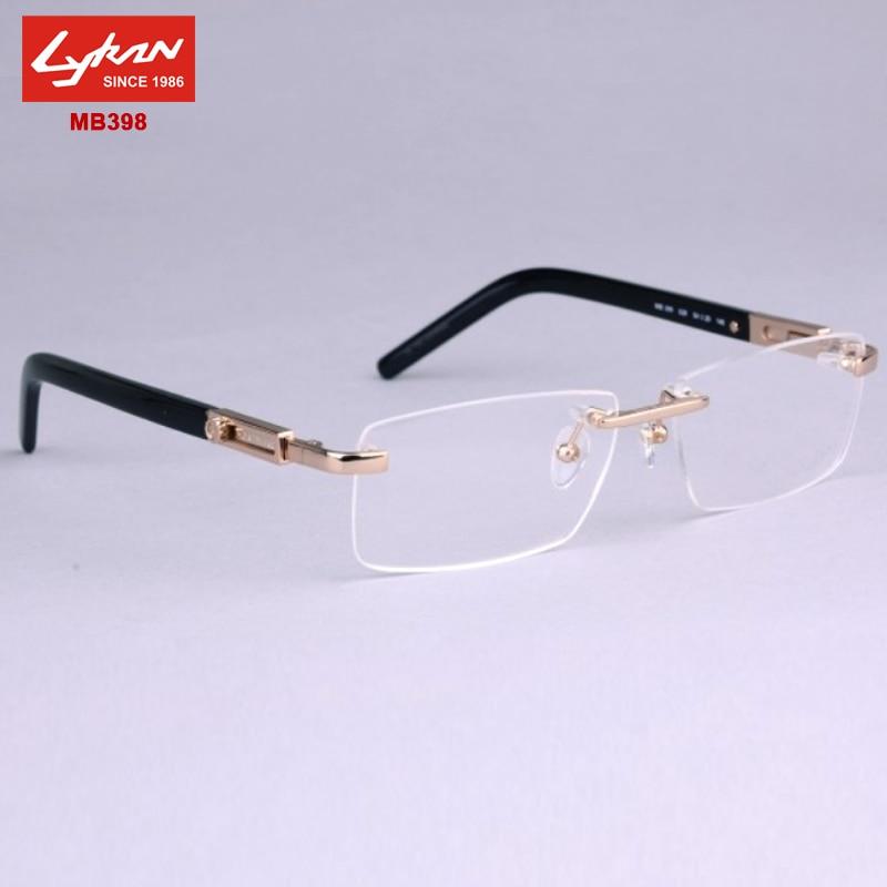Fashion Brand Points Men Designer Mb398 Rimless Eyeglasses