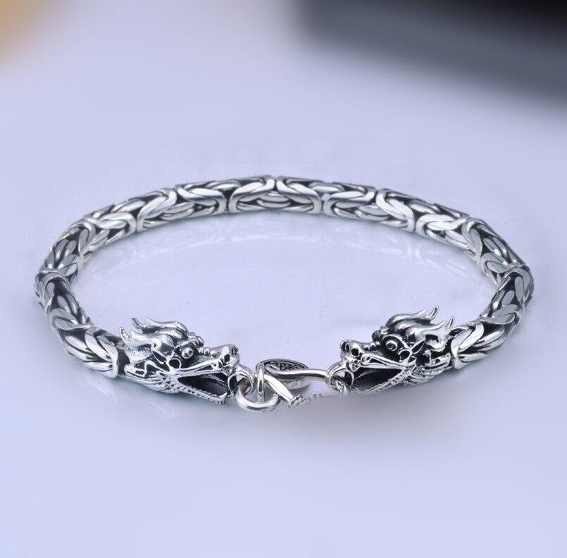 Tout nouveau bracelet dragon en argent thaïlandais corsaire 925 en argent sterling vintage chaîne et lien bracelets