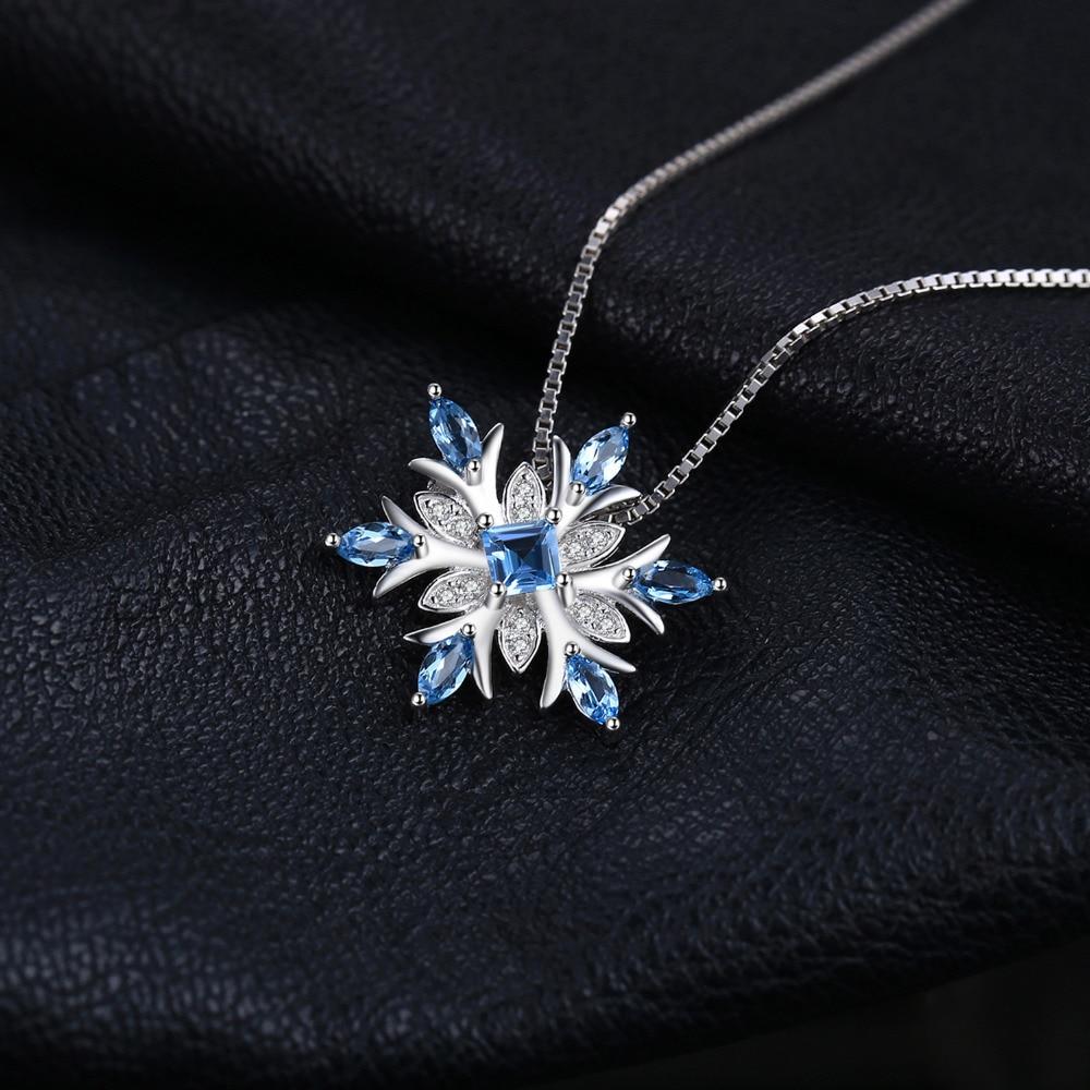 JewelryPalace Snowflake Genuine Swis Blue Topaz Solide 925 Sterling - Edlen Schmuck - Foto 4