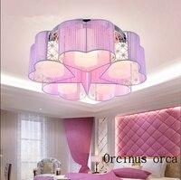 Современный Лаконичный теплый в форме сердца потолочный светильник для девочки спальня детская комната романтическая креативная Звезда Л