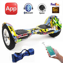 Free Tax 10 inch Big Wheel Hoverboard with Mobile App Bluetooth Two Wheels Electric Skateboard Self Balance Electric Scooters