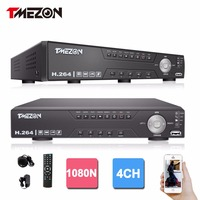 Tmezon HD 4CH 1080N DVR NVR HVR 3 In 1 Advanced Security Surveillance System Support Analog