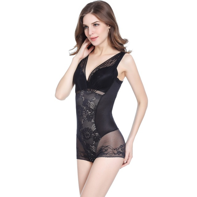 8e915cf65d21b Women Slimming Shapewear Sexy U Plunge Wedding Bodysuit Firm Control Body  Shaper Waist Trainer Camis Slim Full Slip Dress