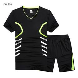 FALIZA Новый Летний Плюс Размеры 7XL 8XL 9XL Для мужчин футболка верхняя одежда спортивные комплекты мужской костюм быстросохнущая Для мужчин