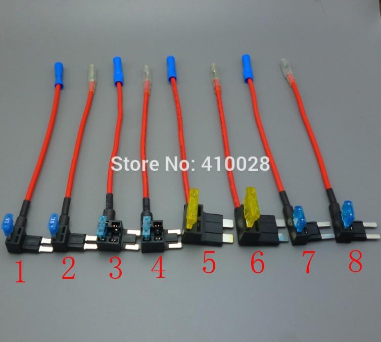 imágenes para 100 sets micro2, micro, estándar, Mini Cuchilla Fusible Tap Holder Añadir Un envío de Circuito de Línea ATM APM Coche Camión Moto de La Motocicleta