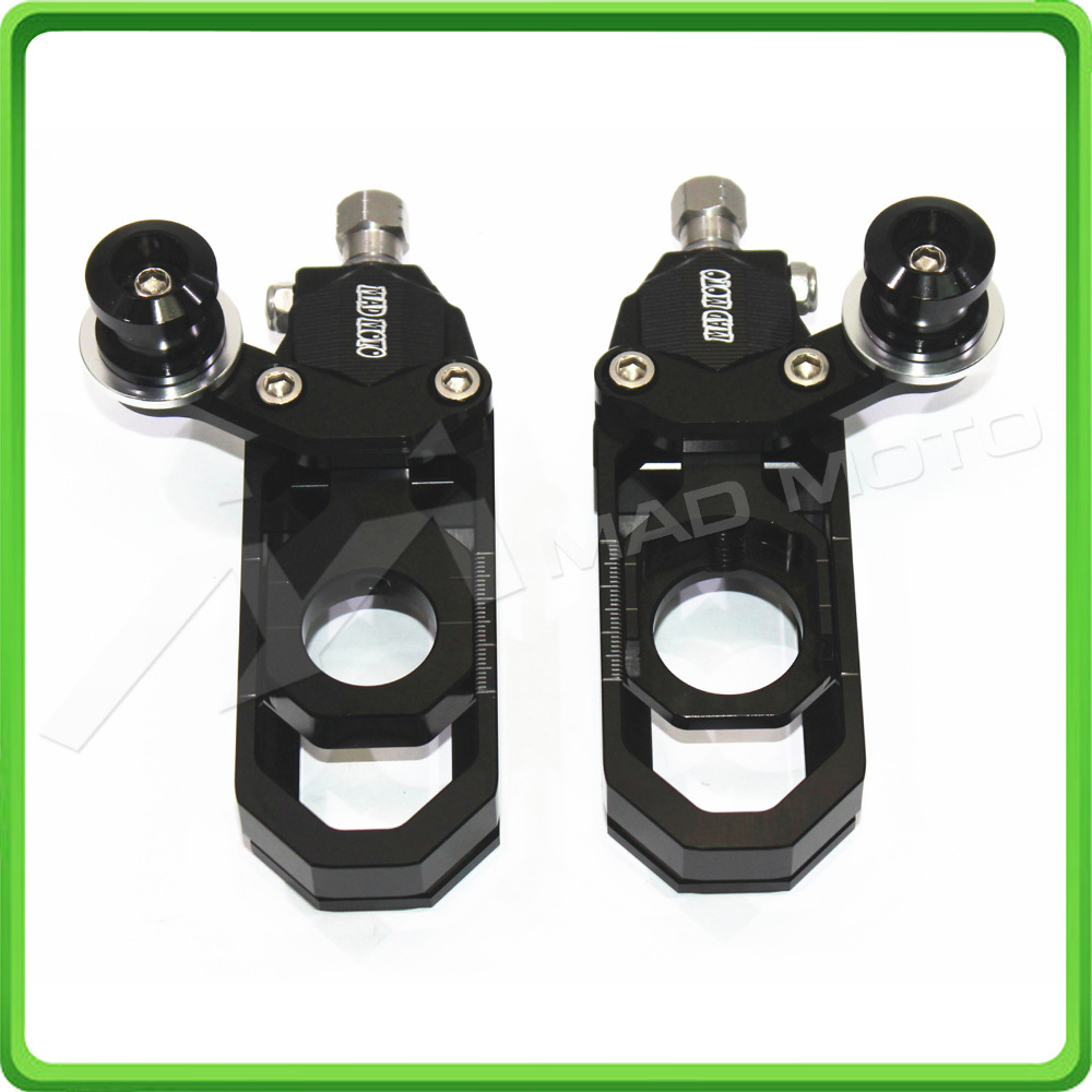 Motorcycle Chain Tensioner Adjuster with bobbins kit for Yamaha R6 YZF-R6 2006 2007 2008 2009 2010 2011 2012 Black motorcycles black aluminum chain guard cover shiled for 2006 2007 2008 2009 2010 2011 2012 2013 2014 2015 yamaha yzf r6