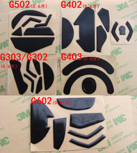 Für logitech G102 G403 G502 G602 G603 G303 G402 G pro Teflon Maus füße beine skates für gaiming maus 0,6mm dicke