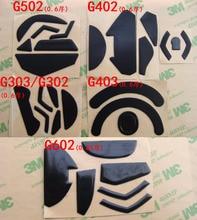 Per logitech G102 G403 G502 G602 G603 G303 G402 G pro Del Mouse Teflon piedi gambe pattini per gaiming mouse 0.6mm di spessore