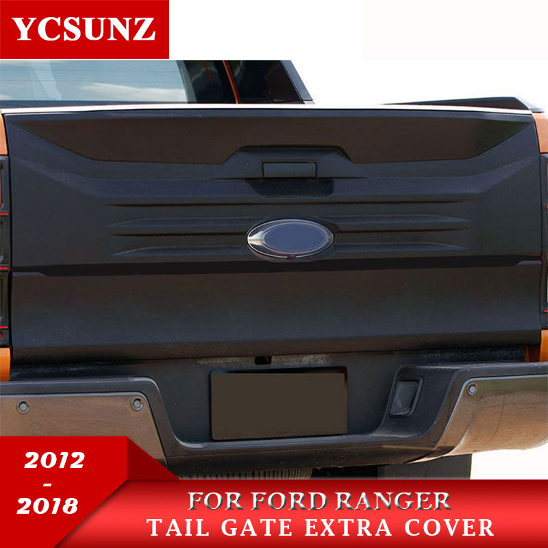 2012-2018 Tail Gate Nudge Cover For Ford Ranger Accessories Extra Tail Gate Trim Suitable Ford Ranger 2017 Wildtrak T6 T7 Ycsunz