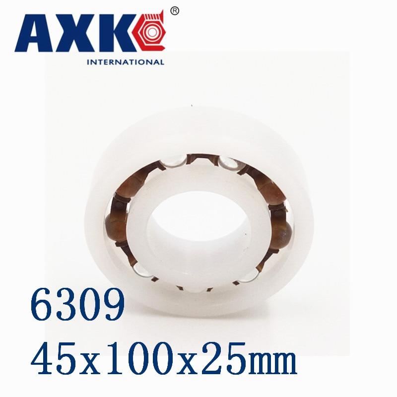AXK 6309 POM (10PCS)  Plastic ball bearings 45x100x25mm  Glass Balls 45mm/100mm/25mm 6809 pom 10pcs plastic ball bearings 45x58x7 glass balls 45mm 58mm 7mm 61809pom