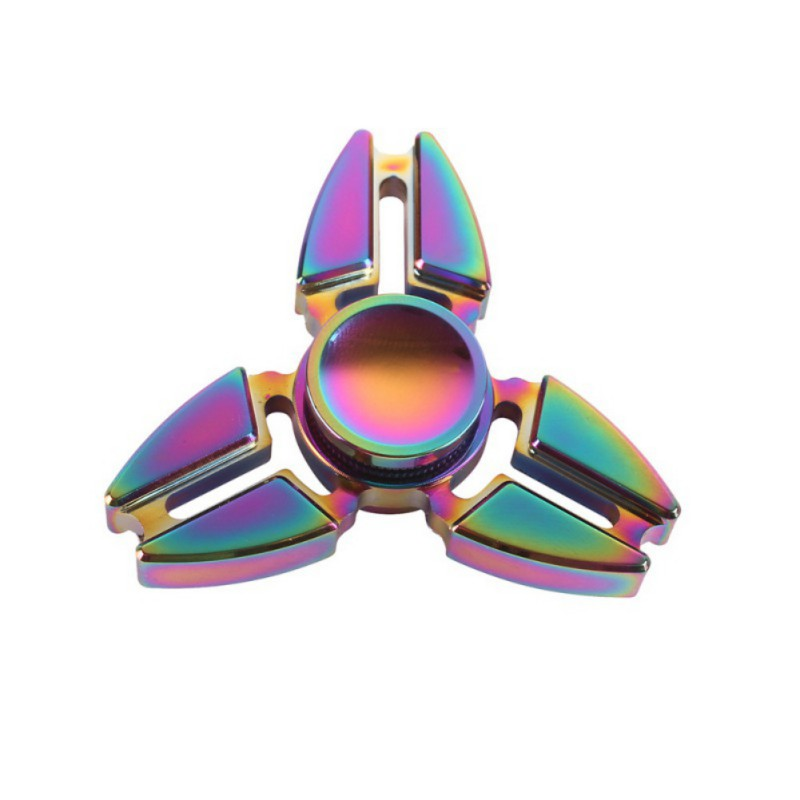 6 Styles Three Corners Hand Spinner Hand Fidget Zinc Alloy Rainbow Color For Autism ADHD Finger