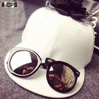Fashion Style Novelty Personality Detachable Sunglasses Baseball Cap Women Hip Hop Adjustable With Flower Sun Hat