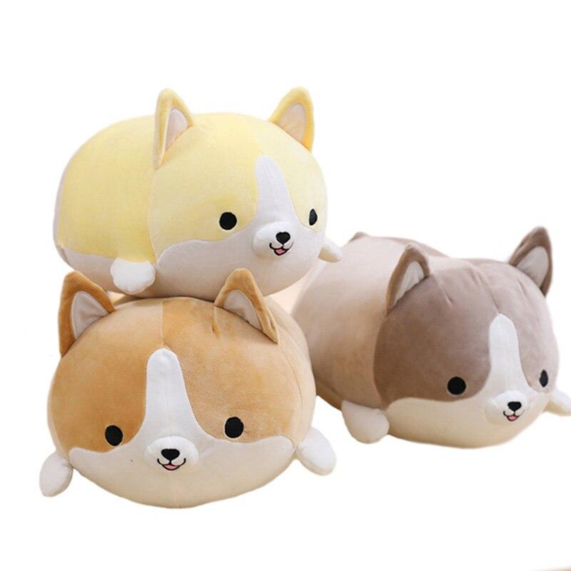 1 stücke Nette Fett Corgi Hund Plüsch Spielzeug Weiche Stofftier Kissen Schöne Cartoon Geburtstag Geschenk für Kinder 35 cm /50 cm/60 cm