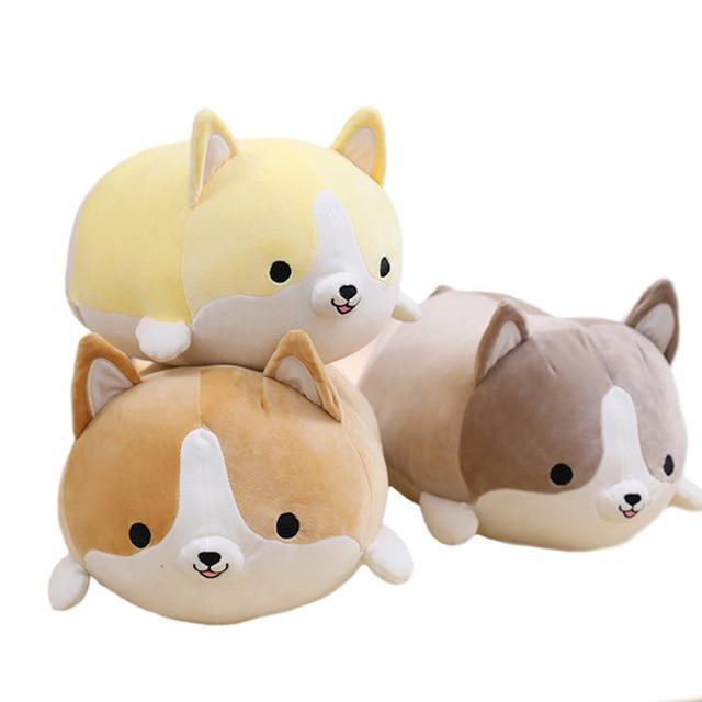 1pcs Cute Fat Corgi Dog Plush Toy Soft Stuffed Animal Pillow Lovely