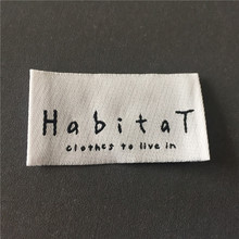 Custom Womens Soft Edge High Density Clothing Main Labels Woven Name