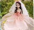 Cópia Legal Original 10 articulado móvel rosa vestido de noiva Kurhn boneca / linda rosa véu saia para boneca Barbie
