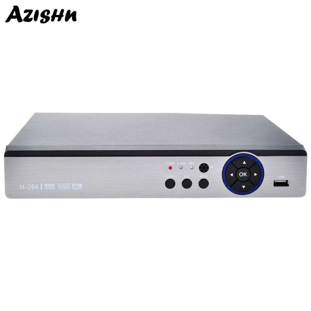 AZISHN-enregistreur vidéo 8CH HD AHD/TVI/CVI/CVBS/IP AHD DVR H.264 5IN1 hybride 8CH/4MP | Pour système de caméra de Surveillance