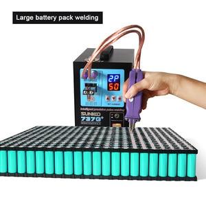 Image 3 - Soldador por puntos con batería de 737G, máquina de soldadura por puntos con luz LED de 4,3 kW con bolígrafo de soldadura para paquete de batería de litio 18650